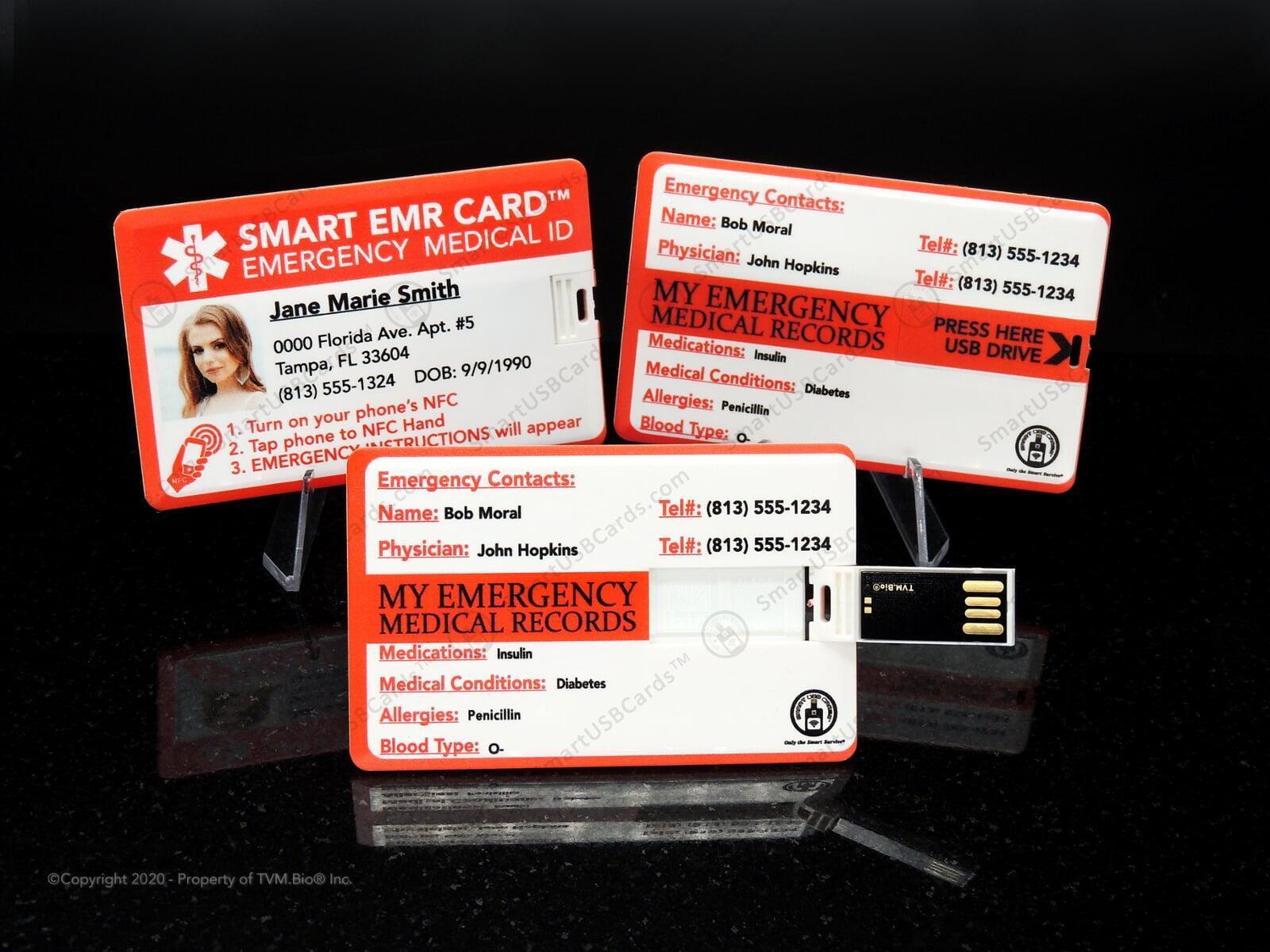 smart usb medical id card  usb credit card custom usb card